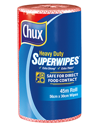 Chux Superwipes HD Roll 45m Red