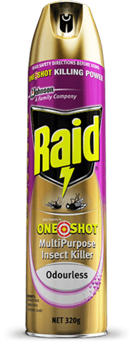 Raid Fly Spray One Shot Multipurpose 320g