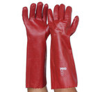 ProChoice PVC Gloves Red Single Dip 45cm