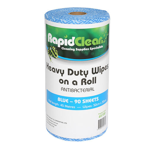 RapidClean Wipes on a Roll 45m Blue