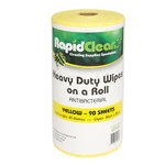 RapidClean Wipes on a Roll 45m Yellow