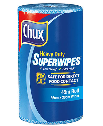 Chux Superwipes HD Roll 45m Blue