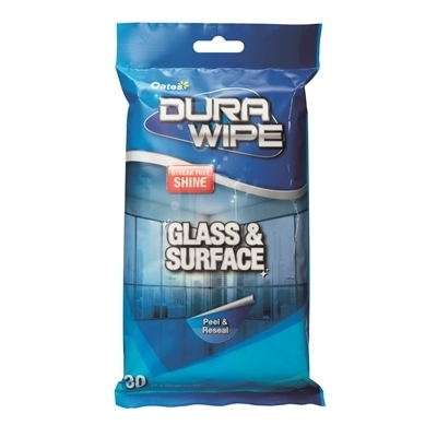 Oates Durawipe Glass and Surface Wipes pkt 30