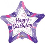 "Birthday Girly Colours 18"" Star pkt 1"