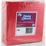 Red 2ply Lunch Napkin 20 Packs x 100