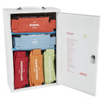 Mediq 5 x Incident Ready First Aid Kit - White Metal Wall Cabinet 1-25 Persons High Risk