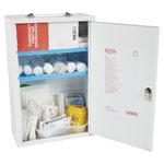 Mediq Essentials First Aid Kit Worplace Response - White Metal Wall Cabinet Low Risk 1-25 Persons