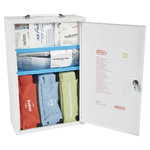 Mediq Essentials First Aid Kit Workplace Response - White Metal Wall Cabinet 1-25 Persons High Risk